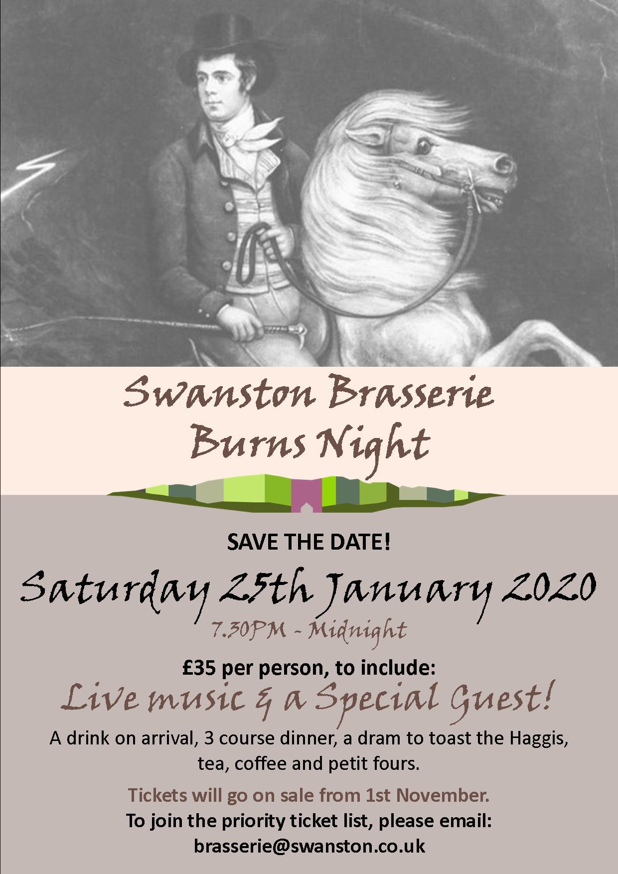 Burns Night 2020 - Swanston Farm